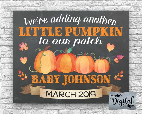 adding a little pumpkin pumpkin baby valentine/'s day reveal sign February 2021 8x10 printable baby reveal pumpkin pregnancy announcement