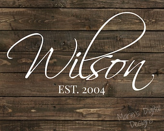 Rustic Personalized Wall Art - Family Name / Home Decor - Printable