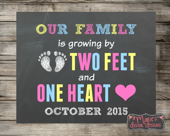 Printable Pregnancy Announcement Our Family Is Growing By