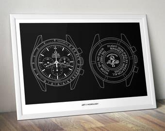 Omega Speedmaster Moonwatch Poster