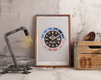 Rolex GMT Pepsi Ghosted Bezel Print