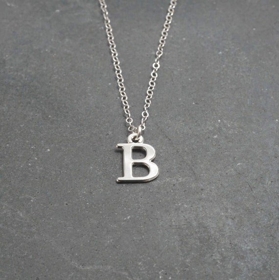 Rose Gold Plated Initial Letter B Necklace Pendant Alphabet Charm