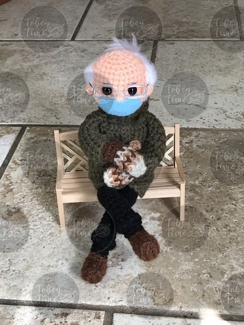 Bernie's Mittens Crochet Doll Pattern PDF Instant Download image 0