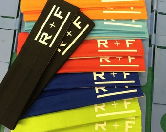12  Rodan and Field Logo Cotton Headbands Assorted Colors -Rodan, R+F, Road and Fields, Consultant, gift, coach, RandF, RF, Fields