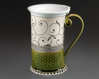 Handmade mug, Ceramic Mug, Tea Mug, Ceramics and pottery, Mug, Housewarming gift, Pottery, Green mug, Coffee mug, Unique mug, Birthday gift