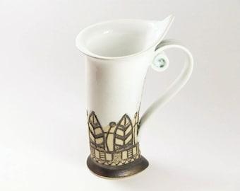 Ceramic Mug, Tea Mug, White mug, Stoneware , Ceramics and pottery, Ceramic cup, Tea cup, Coffee cup, Coffee mug, Handmade mug, Unique mug,