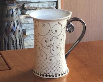 Ceramic Mug, Tea Mug,Handbuilding Techniques, Ceramics and pottery, ceramic cup, Tea cup, Coffee cup, Coffee mug,  handmade mug, cup