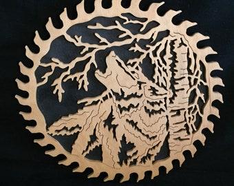 Scroll Saw Art Wolf Etsy