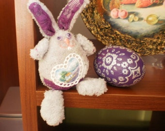 Easter decorations Easter Personalized Bunny and egg Easter basket Gift for Easter Bunny room decor Easter basket gift Hand painted Provence