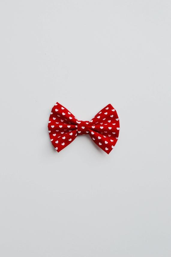 La saint valentin coeur rouge avec noeud pour animaux de etsy - Coeur pour la saint valentin ...