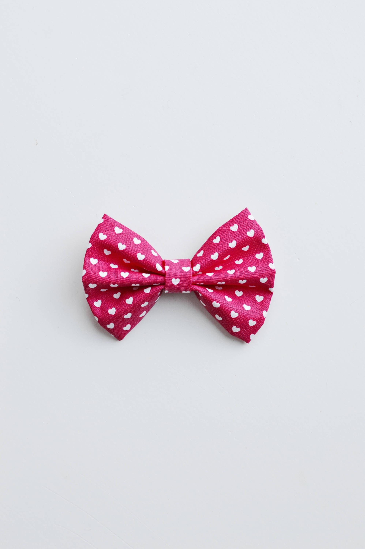 Valentine s Day Pink Heart Pet Bow Tie