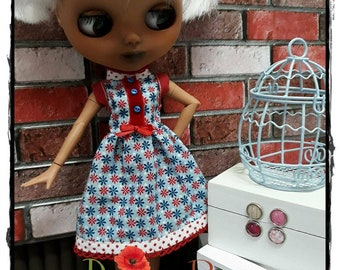 Party Summer Dress (red ribbon)