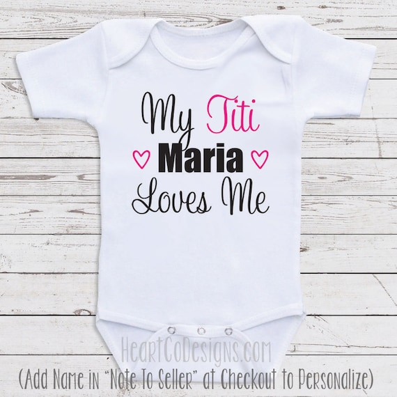 e0f50d857 Titi Baby Clothes My Titi Loves Me Personalized | Etsy