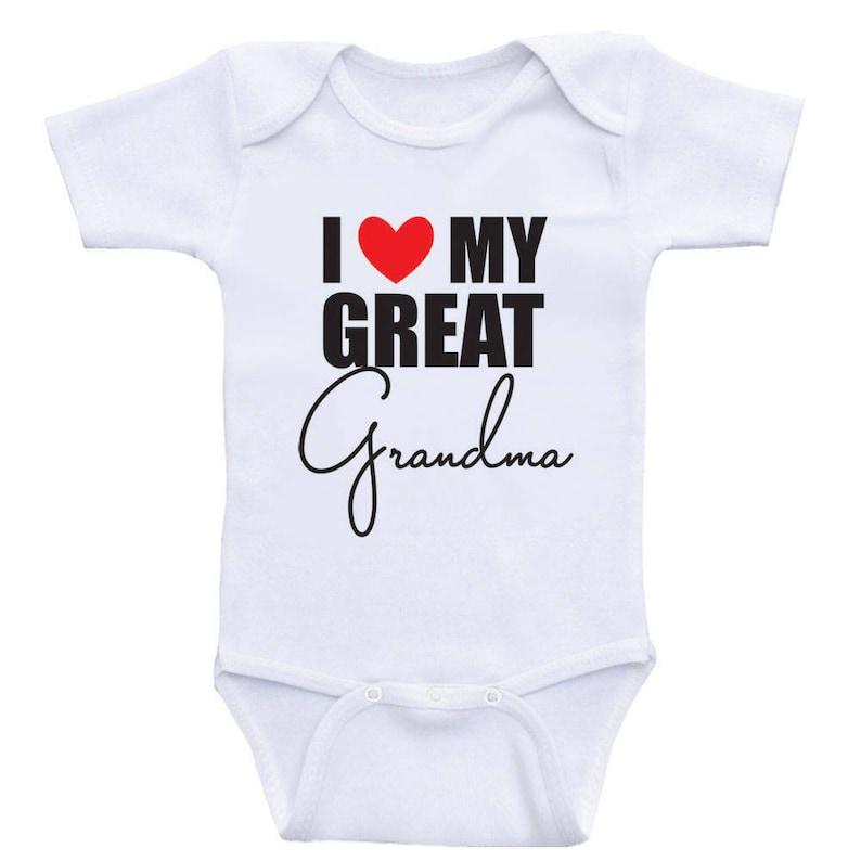 Great Grandma Baby Clothes I Love My Great Grandma Etsy