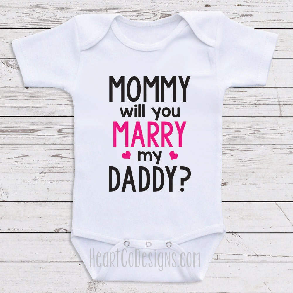 125a82e13 Cute Proposal Baby Clothes Will You Marry Me Baby