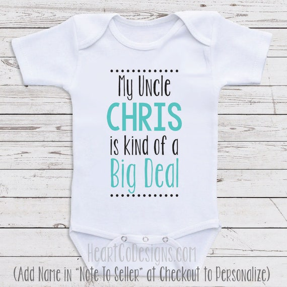 d4cd71e82392 Personalized Baby Clothes My Uncle Is Short or
