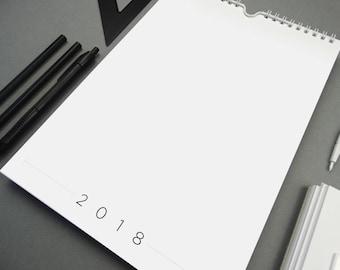 FORM 2018 Monthly A4 Wall Calendar