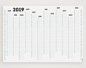 WHITE OUT 2019 Wall Planner