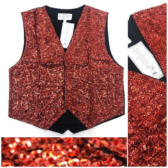 Red Sequin Vest
