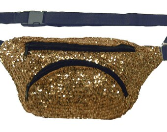 Gold Sequined Fanny Pack
