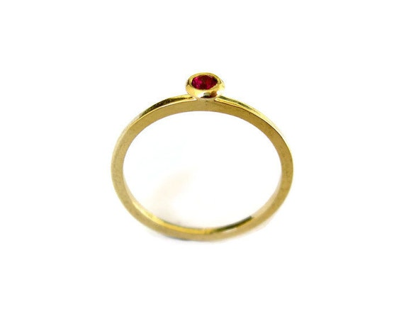 Birthday Gift For Her Ruby Gold Ring Girlfriend July