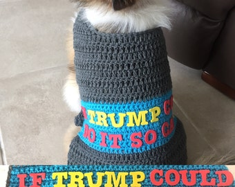 President Trump Dog Sweater, President Trump, Bad Hombre, Donald Trump, Donald Trump Dog Coat, Trump Dog Sweater, Dog Sweater, Free Shipping