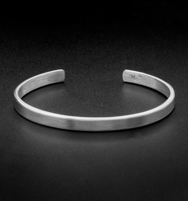 bc82586f6c8 Sterling Silver Cuff Bracelet-5mm-Solid Silver Cuff-plain | Etsy