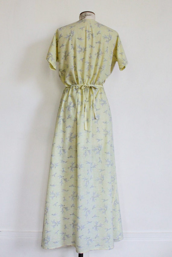 70s Seersucker long dress - image 4