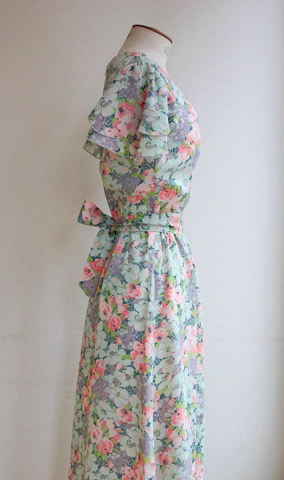30s cut floral dress - image 3