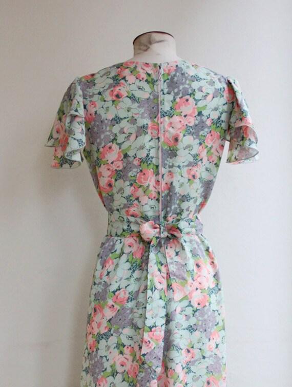 30s cut floral dress - image 4