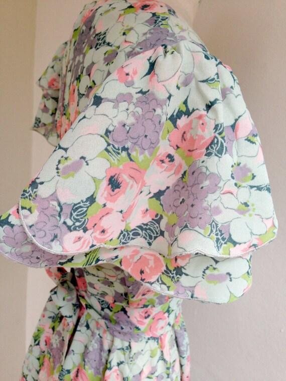 30s cut floral dress - image 5