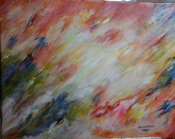 """11"""" x 14"""" """"The Light"""", Acrylic Abstract on Canvas by Bernadette"""