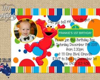 Printable Elmo Invitation - Elmo Party - Sesame Street Party - DIY