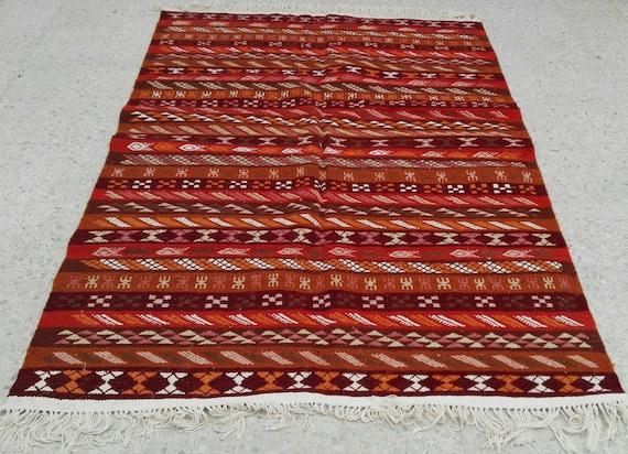 Tappeti Kilim Tunisini : Kilim tappeto tappeto kilim aréna tappeto tappeto marrone etsy