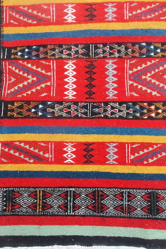 Vintage Kilim Turc Petit Tapis Multicolore Tapis Kilim Tapis