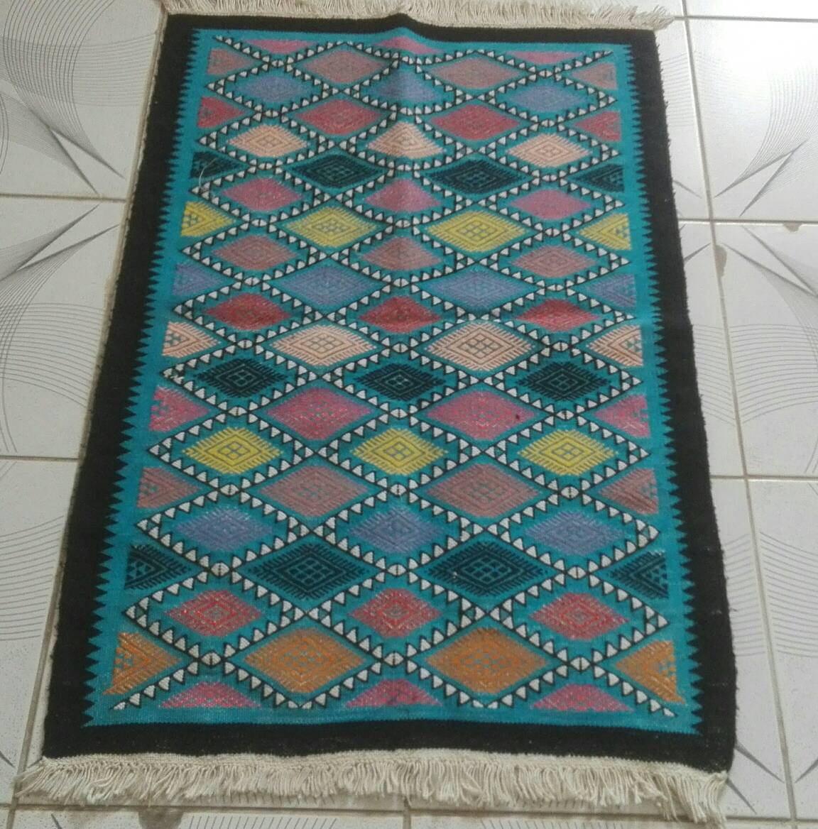 tapis bleu tapis kilim bleu tapis margoum kilim tapis etsy. Black Bedroom Furniture Sets. Home Design Ideas