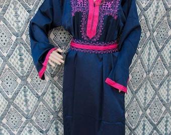 blue caftan, pink kaftan, pink dress, resortwear, loungewear,morrocan caftan,berber dress,oriental dress, oriental kaftan.