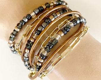 Triple Wrap Bracelet - City Lights