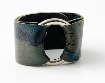 Ring of Hope Camo Leather Cuff Bracelet