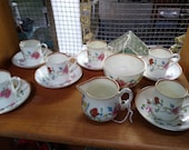 Royal Worcester - Astley - Dr Walls Period - Coffee set - 14 pieces