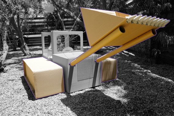 ADD-ON ITEM: Build-your-own Cardboard Box Bulldozer (Add-on item for previous purchase of Build-your-own Cardboard Box Car) - Instructions