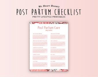 Post Partum Care - Daily Checklist