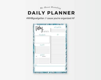 Today - Daily Planning Printable (Spiffy Blue)