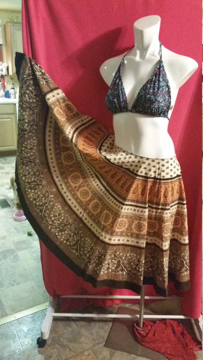 Stunning skirtVintage 1990sHandmade look Zipper in waist100/% cottonSize 4Summer fashion-Skirts-ALFAS