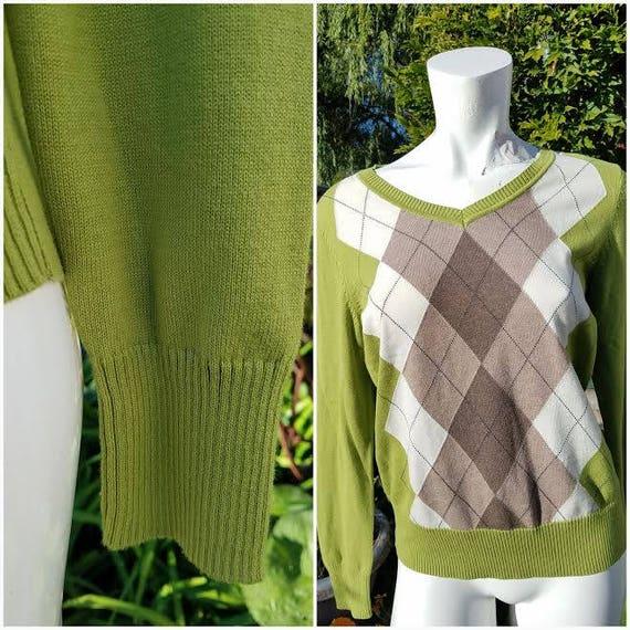 Vintage Cardigan St John/'s Bay Cardigan Women/'s Cardigan Women/'s Sweater Green Cardigan Green Sweater Vintage Sweater Gifts For herBAYBAY