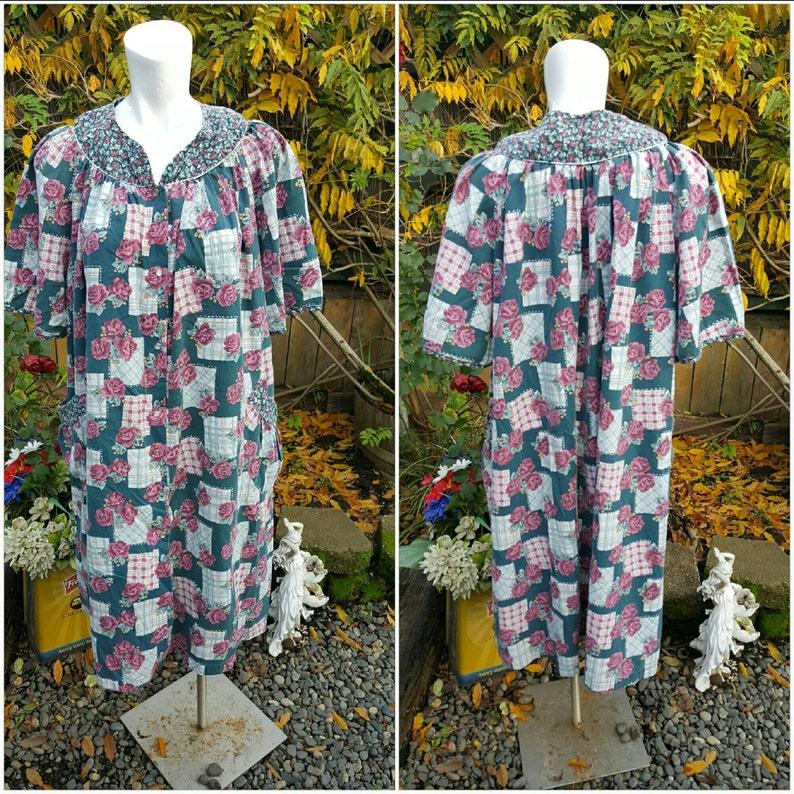 7fc681da8 GGG-Vintage noche vestido-casa abrigo tallas grandes 3