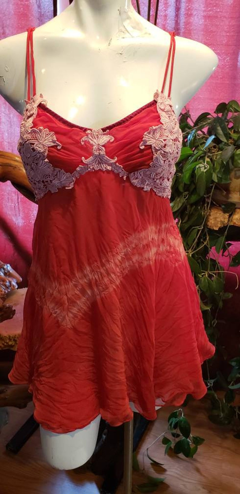 Gift,Bride,Mistress medium,Upcycled,Romantic,Tiedye,Sensual,Valentine/'s Poledance,Sleepwear,Loungewear,Lace,Straps--OCTOBER Remade