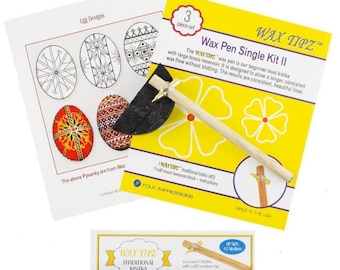 Cleaning Wire /& Instructions Easter Eggs Decorating Kit Beeswax 3 Kistkas