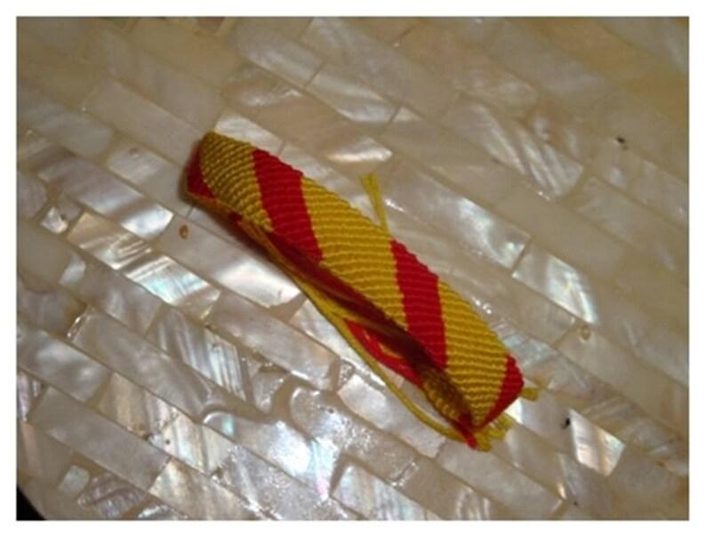 PULSERA de MACRAME Bandera España Franja GRIS Rf1 Pulseras Hilo Bisutería