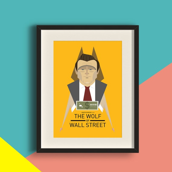 Wolf of Wall Street Movie Art Print | Etsy